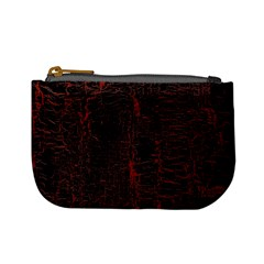 Black And Red Background Mini Coin Purses