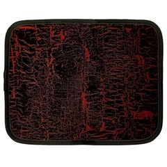 Black And Red Background Netbook Case (xl)