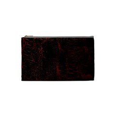Black And Red Background Cosmetic Bag (small)