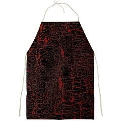 Black And Red Background Full Print Aprons