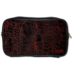 Black And Red Background Toiletries Bags