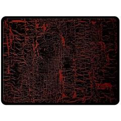 Black And Red Background Fleece Blanket (Large)
