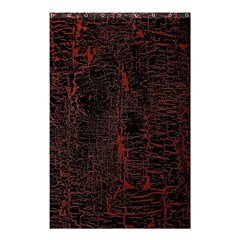 Black And Red Background Shower Curtain 48  X 72  (small)