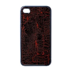 Black And Red Background Apple Iphone 4 Case (black)