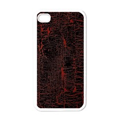 Black And Red Background Apple Iphone 4 Case (white)