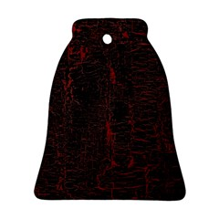 Black And Red Background Ornament (Bell)