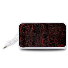 Black And Red Background Portable Speaker (White)