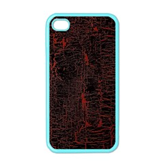 Black And Red Background Apple Iphone 4 Case (color)