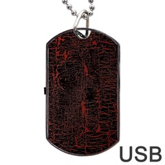 Black And Red Background Dog Tag Usb Flash (two Sides)