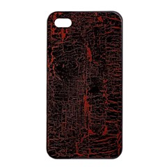 Black And Red Background Apple Iphone 4/4s Seamless Case (black)