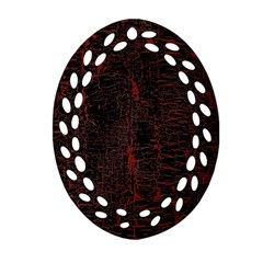 Black And Red Background Ornament (oval Filigree)