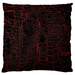 Black And Red Background Large Cushion Case (one Side)