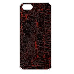Black And Red Background Apple Iphone 5 Seamless Case (white)