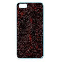Black And Red Background Apple Seamless Iphone 5 Case (color)