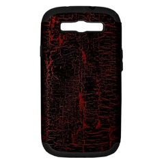 Black And Red Background Samsung Galaxy S III Hardshell Case (PC+Silicone)