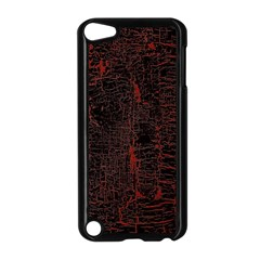 Black And Red Background Apple Ipod Touch 5 Case (black)