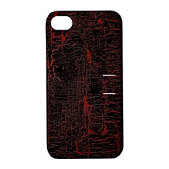 Black And Red Background Apple Iphone 4/4s Hardshell Case With Stand