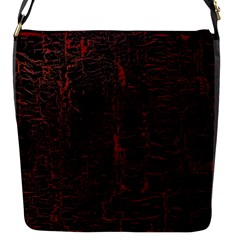 Black And Red Background Flap Messenger Bag (S)