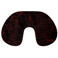 Black And Red Background Travel Neck Pillows