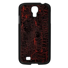 Black And Red Background Samsung Galaxy S4 I9500/ I9505 Case (Black)
