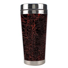 Black And Red Background Stainless Steel Travel Tumblers