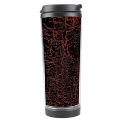 Black And Red Background Travel Tumbler