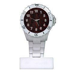 Black And Red Background Plastic Nurses Watch
