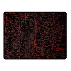 Black And Red Background Double Sided Fleece Blanket (small)