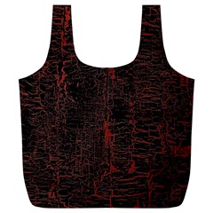 Black And Red Background Full Print Recycle Bags (l)