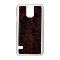 Black And Red Background Samsung Galaxy S5 Case (white)