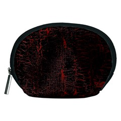 Black And Red Background Accessory Pouches (medium)