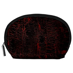 Black And Red Background Accessory Pouches (large)