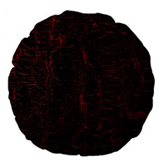 Black And Red Background Large 18  Premium Flano Round Cushions
