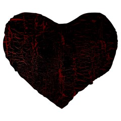 Black And Red Background Large 19  Premium Flano Heart Shape Cushions