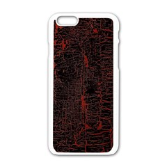 Black And Red Background Apple Iphone 6/6s White Enamel Case