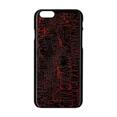 Black And Red Background Apple Iphone 6/6s Black Enamel Case