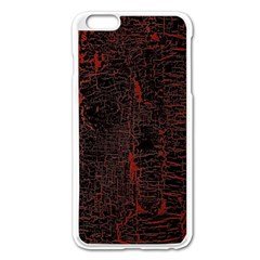 Black And Red Background Apple Iphone 6 Plus/6s Plus Enamel White Case