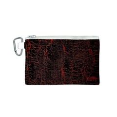 Black And Red Background Canvas Cosmetic Bag (S)