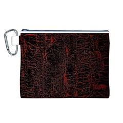 Black And Red Background Canvas Cosmetic Bag (l)