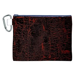 Black And Red Background Canvas Cosmetic Bag (XXL)