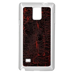 Black And Red Background Samsung Galaxy Note 4 Case (White)
