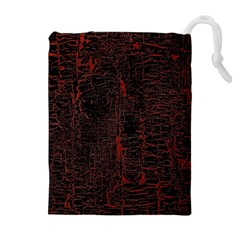 Black And Red Background Drawstring Pouches (Extra Large)
