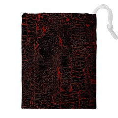 Black And Red Background Drawstring Pouches (xxl)