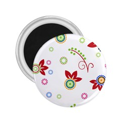 Colorful Floral Wallpaper Background Pattern 2.25  Magnets