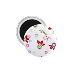 Colorful Floral Wallpaper Background Pattern 1.75  Magnets