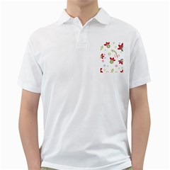 Colorful Floral Wallpaper Background Pattern Golf Shirts