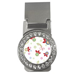 Colorful Floral Wallpaper Background Pattern Money Clips (cz)