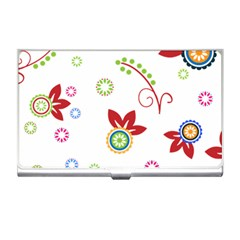 Colorful Floral Wallpaper Background Pattern Business Card Holders