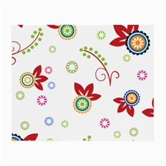 Colorful Floral Wallpaper Background Pattern Small Glasses Cloth