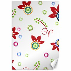 Colorful Floral Wallpaper Background Pattern Canvas 12  X 18